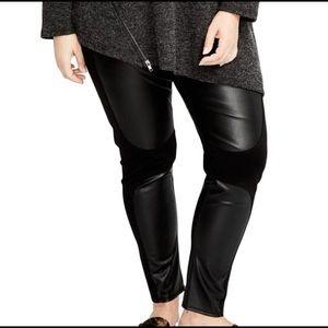 Rachel Roy 2x faux leather leggings